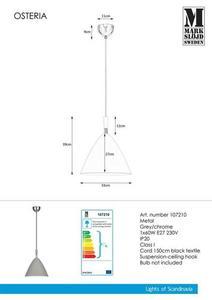 OSTERIA Hanging 1L Grau / Chrom small 0