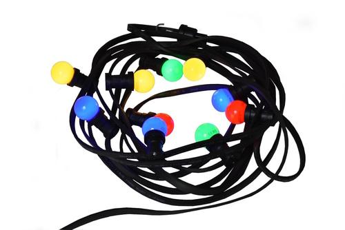 Weihnachtsbaum Lichterkette 30m - 60 mehrfarbige LED Birnen