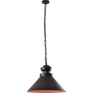 Schwarze und braune hängende Maisie Lampe small 1