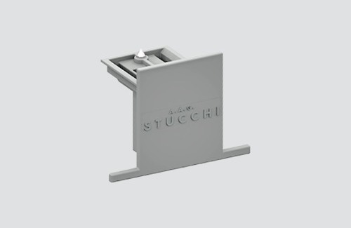 9004-R / B STUCCHI Einbau-Montageplatte aus Edelstahl