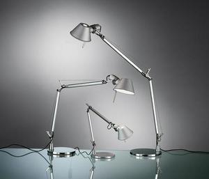 Schreibtischlampe Artemide Tolomeo Aluminium A001000 + A004030 small 1