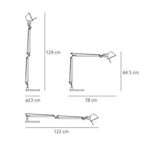 Schreibtischlampe Artemide Tolomeo Aluminium A001000 + A004030 small 2