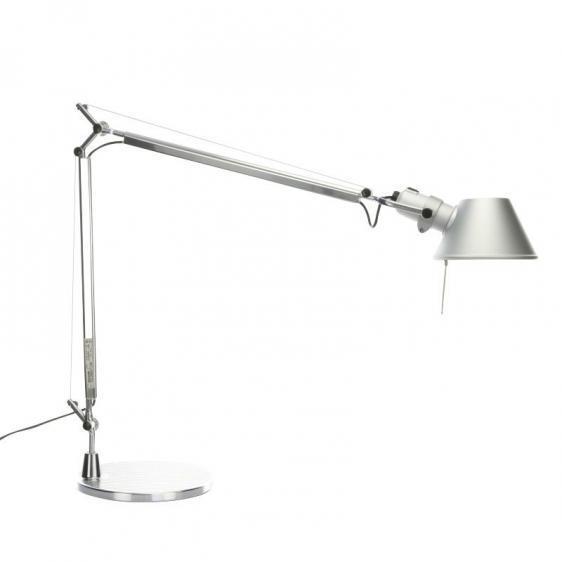 Schreibtischlampe Artemide Tolomeo Aluminium A001000 + A004030