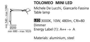 Tischleuchte Tolomeo mini weiß small 1