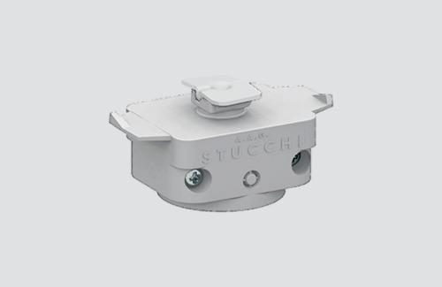 Mechanischer Adapter STUCCHI, weiß, schwarz, grau