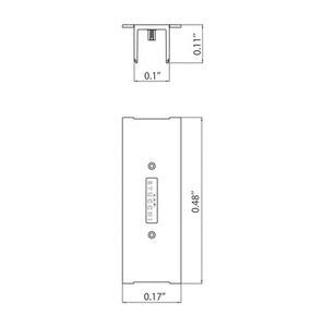 Abdeckschienenverbinder für STUCCHI Einsteckleisten, weiß, grau, schwarz small 1