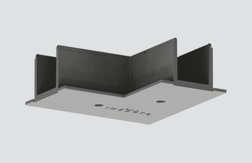 L-Sammelschienenabdeckung für STUCCHI-Einsteckschienen, weiß, grau, schwarz