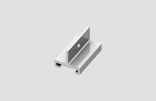 STUCCHI kurze Halterung, Aluminium, schwarz, weiß