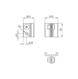 STUCCHI kurze Hebehalterung, Aluminium small 1