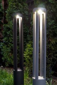 Grauer Metalllichtmast LED Windmühlenpfosten 80cm 10W 6400K / 4000K / 2700K small 9