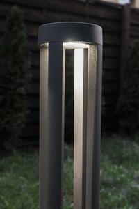 Grauer Metalllichtmast LED Windmühlenpfosten 80cm 10W 6400K / 4000K / 2700K small 7