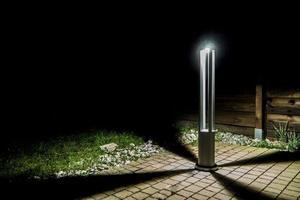 Grauer Metalllichtmast LED Windmühlenpfosten 80cm 10W 6400K / 4000K / 2700K small 8