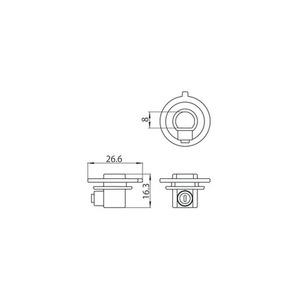 Kunststoffkupplung mit Feststellschraube für Adapter 9009, STUCCHI-Sammelschienen small 1