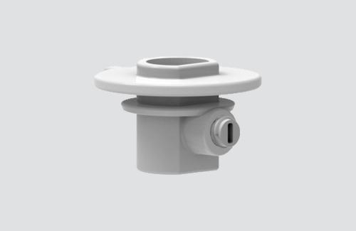 Kunststoffkupplung mit Feststellschraube für Adapter 9009, STUCCHI-Sammelschienen