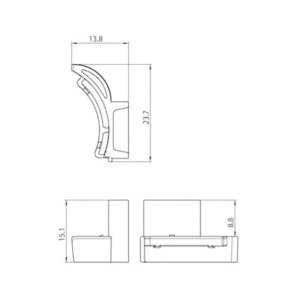 Carter Adapter 9209 IP40, STUCCHI Sammelschienen, weiß, grau, schwarz small 1