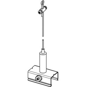 BASIC Fahrwerkset mit Griff, Länge 3000 mm, STUCCHI small 1