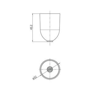 Kabelbefestigungsdeckel mit Durchm. 1,5 mm, STUCCH, weiß, schwarz, grau small 1