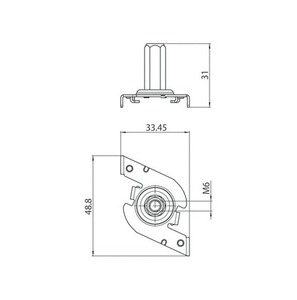 Schnelle M6-Halterung, STUCCHI-Sammelschienen, Stahl, weiß, schwarz, grau small 1