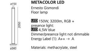 Stehleuchte Artemide METACOLOR LED RGB small 1