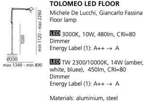 Stehleuchte Artemide LED FLOOR small 1