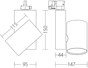 KOR Quattrobot Strahler Aluminium 32W 3000K CRI 93 passend für Stucchi-Reisekoffer small 1