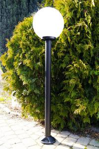 Gartenlampe stehend Mondlampe weiß 20 cm E27 schwarzer Pfosten 100 cm small 0