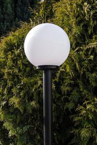 Gartenlampe stehend Mondlampe weiß 20 cm E27 schwarzer Pfosten 100 cm small 2
