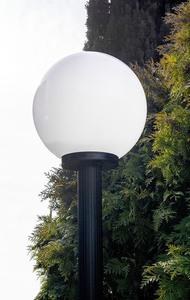 Gartenlampe stehend Mondlampe weiß 30 cm E27 schwarz Pfosten 100 cm small 2