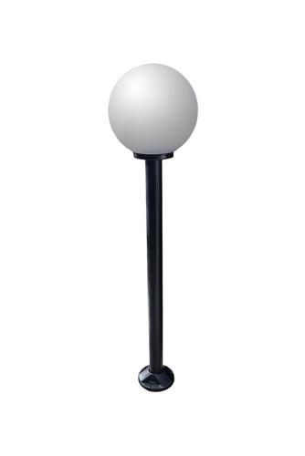 Gartenlampe stehend Mondlampe weiß 30 cm E27 schwarz Pfosten 100 cm