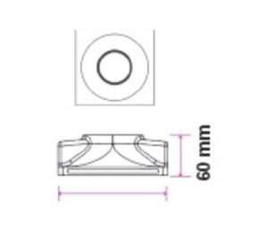 Binding Eye GIPS GU10 Einbau Deep Square White small 6
