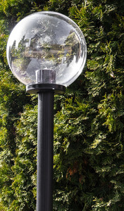 Gartenlampe stehender Mond transparente Lampe 20 cm E27 schwarzer Pfosten 100 cm small 1