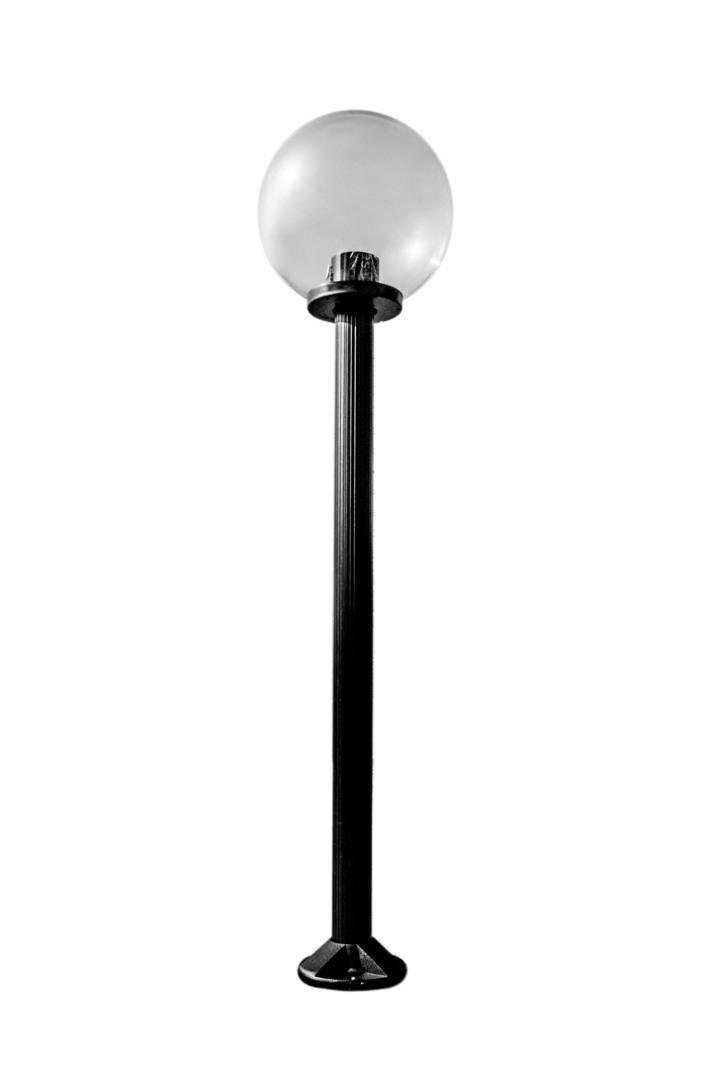 Gartenlampe stehend Mondlampe transparent 30 cm E27 schwarzer Pfosten 100 cm