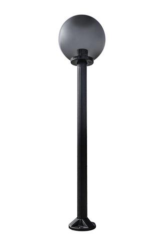 Gartenlampe stehend Mondlampe geraucht 20 cm E27 schwarzer Pfosten 100 cm