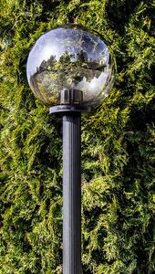 Gartenlampe stehend Mondlampe geraucht 50 cm E27 schwarzer Pfosten 100 cm small 3