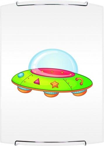 Lampa dla dziecka ufo kinkiet mars bialy chrom 60w e27 l