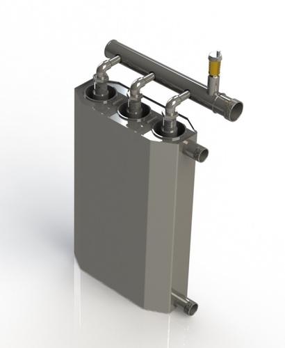 Induktionskessel 400V 4,5 kW zum Heizen großer Flächen 90m² - 115m²