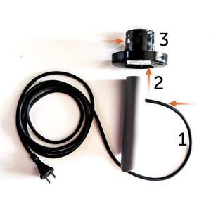 Dekokugel Weiß Glanz - Luna Ball 40 cm mit Montageset, 3m Kabel, Befestigungspfosten small 1