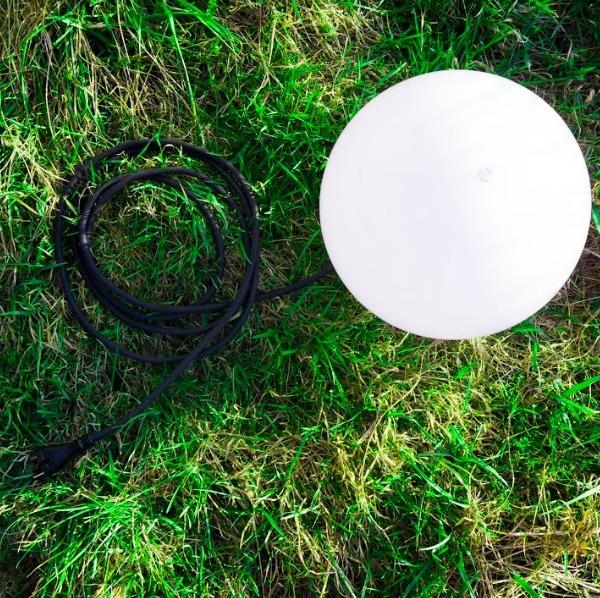 Dekorativer Ballgarten 20cm Luna Ball mit Bausatz