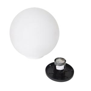 Dekorative Gartenkugel 25cm Luna Ball mit Montageset small 3