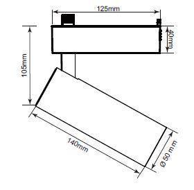Widderreflektor S für 1-F-Schiene schwarz small 1