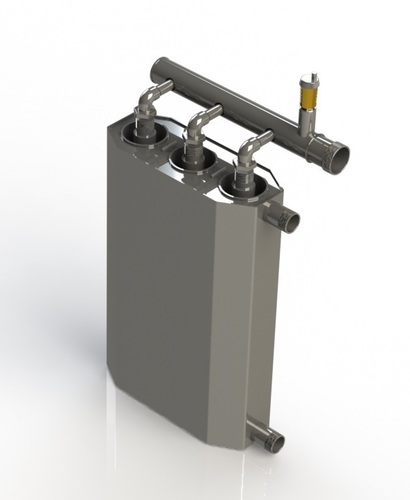 Dreifacher 15-kW-Induktionskessel zum Heizen auf 300 m2