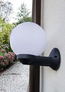 Gartenwandleuchte Luna Ball 20 cm weiß E27 LED small 1