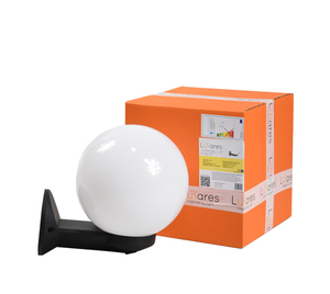 Gartenwandleuchte Luna Ball 20 cm weiß E27 LED small 0