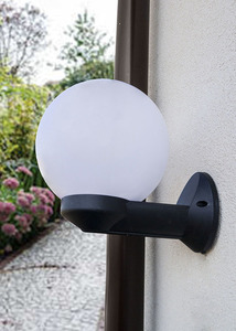 Gartenwandleuchte Luna Ball 15 cm E27 weiß small 1