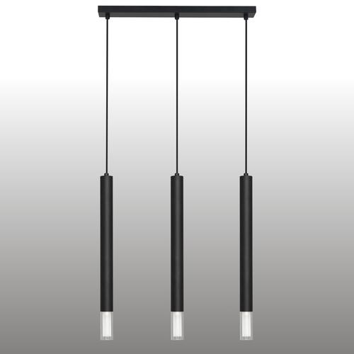 Schwarze Kuga Pendelleuchte 3 XL Streifen