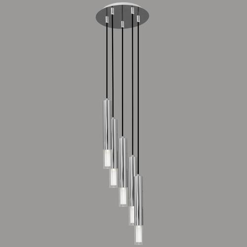 Lampa wiszaca kuga 5 m chrom l