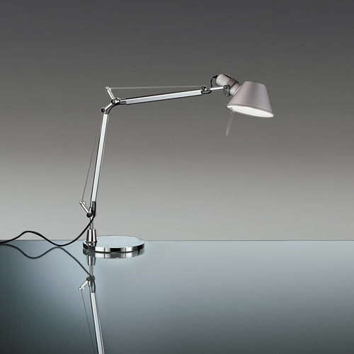 Schreibtischlampe Artemide Tolomeo Mini A005910 Aluminium