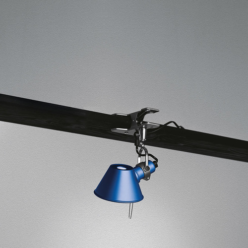 Tragbare Lampe Artemide Tolomeo Micro Pinza A010850 blau