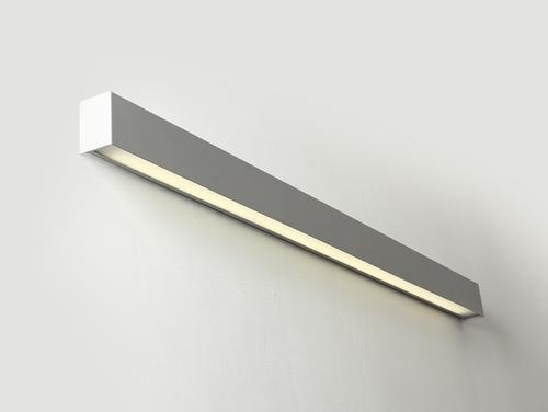 LINE WALL LED L Wandleuchte - silber