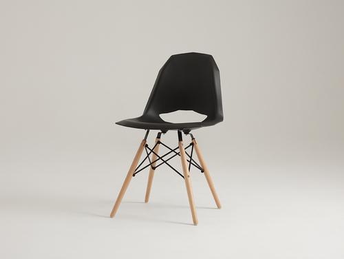 MATCH WOOD Stuhl - schwarz